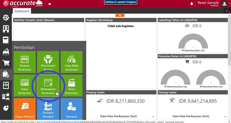Pencatatan Transaksi Dengan Menggunakan Cek