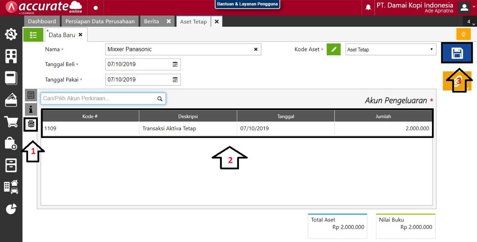 Pembelian Aset melalui PO di Accurate Online 14