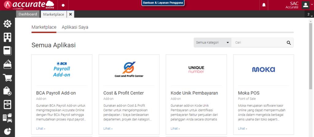 Kategori Keuangan Accurate Online