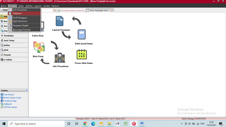 mengubah bahasa dan membuat database duplikat accurate desktop